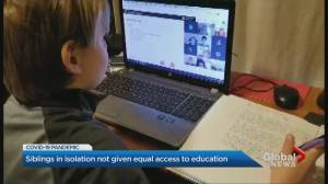 Parent calls for equal access to remote learning for siblings of students self-isolating (01:53)