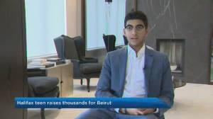 Halifax teen raises thousands for Beirut relief efforts (01:44)