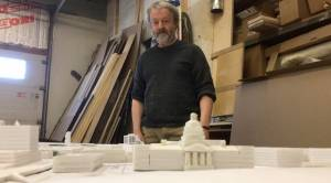 Kingston, Ont., man builds foam model of downtown Kingston which includes proposed buildings