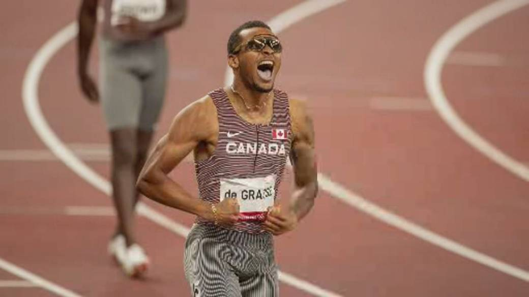 Click to play video: ''I knew he would take it': Andre De Grasse's proud mother reflects on his Olympic gold medal win'