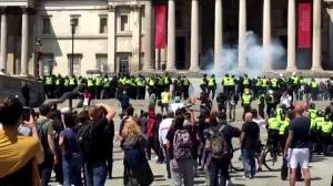 Far-right protesters clash with anti-racism demonstrators in London, UK