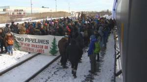 Protesters block rails in Vaughan, Ont. in latest Wet'suwet'en solidarity demonstrations