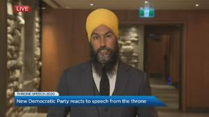 Throne speech: NDP Leader Jagmeet Singh says Liberal plan doesn't go far enough