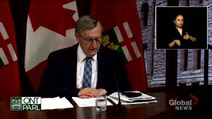 Ontario's top doctor hopes COVID-19 cases will dip below 400 a day by summer (01:48)