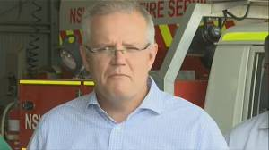 Australia's prime minister defends his government's climate policy as fires rage (02:16)