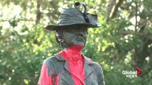 Emily Murphy statue in Edmonton defaced with red paint (02:15)