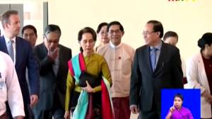 Myanmar leader departs for genocide hearings