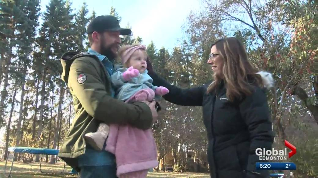 Click to play video 'Spruce Grove baby wins drug company lottery for $2.8M Zolgensma spinal muscular atrophy treatment'