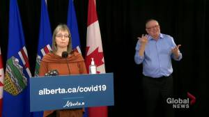 Alberta Health Services prioritizing second doses of COVID-19 vaccine (01:07)