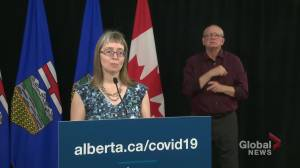 How does Alberta keep track of recovered COVID-19 cases?