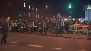 Protesters in solidarity with Wet'suwet'en hereditary chiefs block major Vancouver intersection