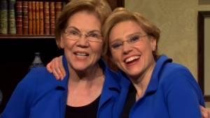 Elizabeth Warren guest stars in SNL cold open, meets McKinnon's portrayal of the politician (09:10)