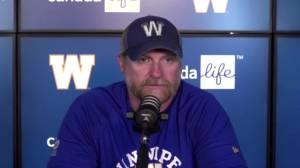 RAW: Blue Bombers Mike O'Shea Post Game – Aug. 29 (07:55)