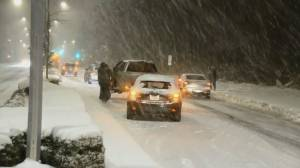 Snow and ice cause chaos on Lower Mainland roads