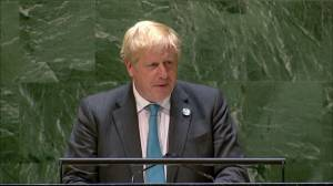 Boris Johnson issues appeal on climate change: 'It's time for humanity to grow up' (02:23)