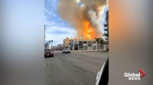 11 firefighters injured in L.A. building explosion