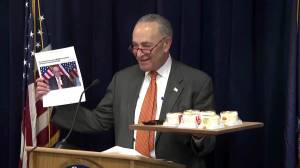 Chuck Schumer says he's 'guilty' of spending thousands of dollars on cheesecake; regrets nothing