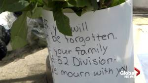Memorial grows at TPS 52 Division following death of officer (02:01)