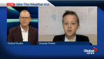 Jake the Weather Kid shows off his stuff on Global News Morning