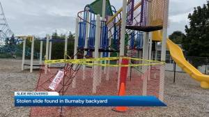 Stolen slide found in Burnaby backyard (00:24)