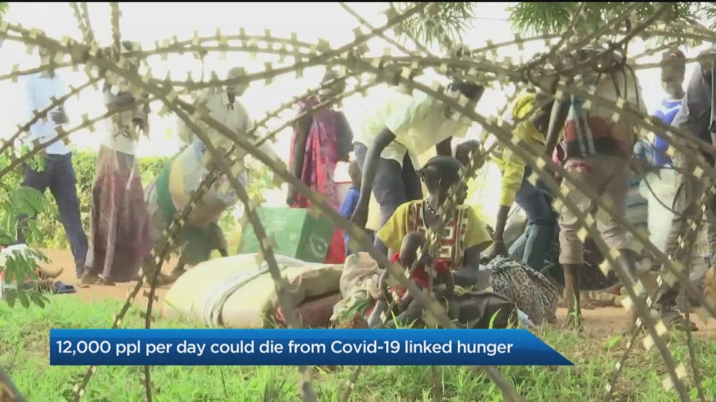 Click to play video '12,000 people per day could die from COVID-19 linked hunger'