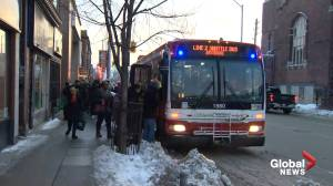 No subway service on Line 2 between Jane and Ossington stations