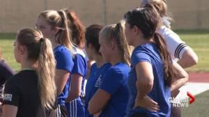 Pronghorns women's soccer team kicks off camp under new head coach (01:47)