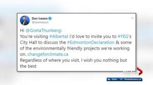 Edmonton mayor extends invitation to climate activist Greta Thunberg