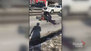 OPP will lead investigation into conduct of Barrie police officer after 'violent' arrest (01:54)