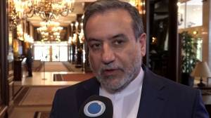 Iran's chief negotiator says says nuclear talks 'slowed' but still going forward (01:25)