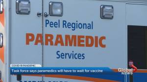 Peel paramedics union seeks clarity on when members will be eligible for COVID-19 vaccine (01:36)