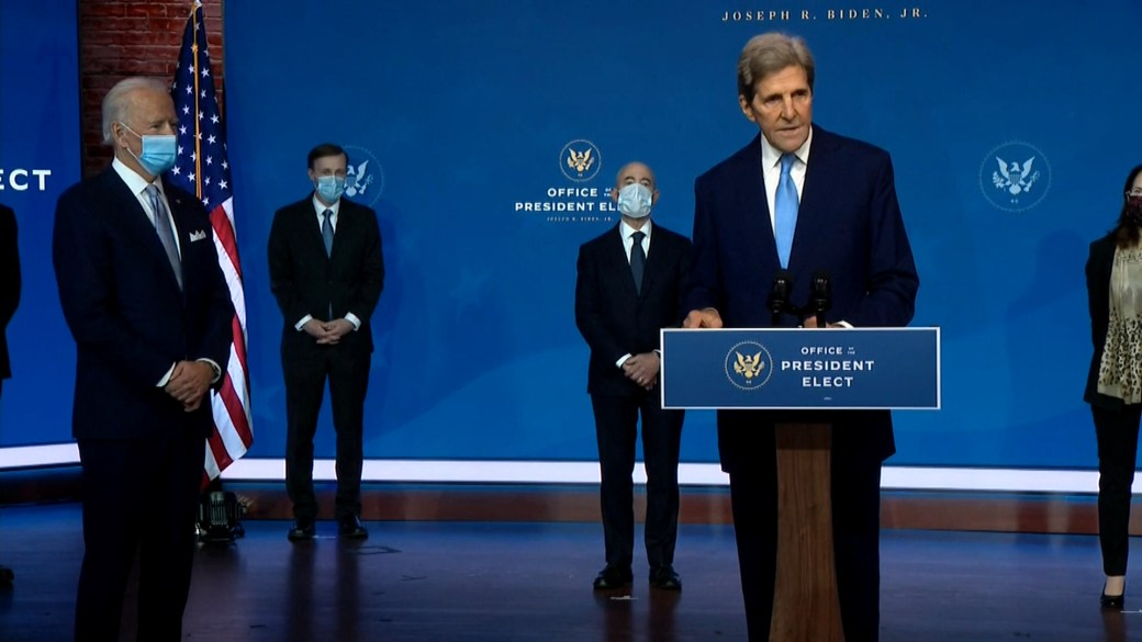 Click to play video 'U.S. election: Biden names John Kerry as special envoy on climate change'