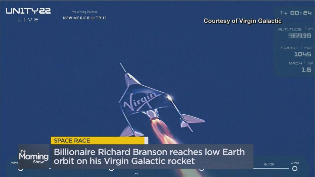 Click to play video: 'Billionaire Richard Branson reaches low Earth orbit on Virgin Galactic rocket'