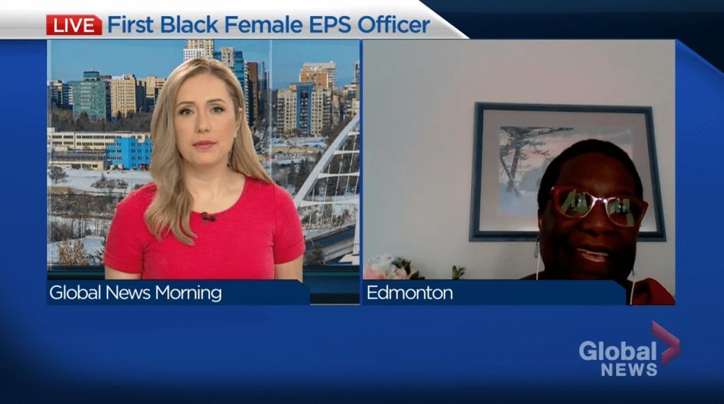 Click to play video 'First Black female EPS officer shares her story'