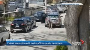 Man arrested after allegedly throwing rocks at Toronto Police officer