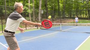 Paddle tennis is catching on in the village of Sydenham.