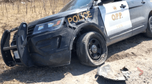 OPP cruiser involved in collision in Selwyn Township (00:28)