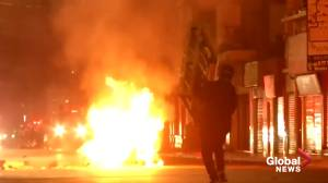 Several people killed in Chile riots after Santiago set alight by demonstrators