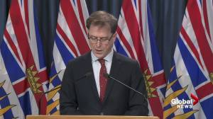 B.C. health minister gives update on the locations of coronavirus cases