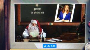 Santa sends a message to Julie Brown