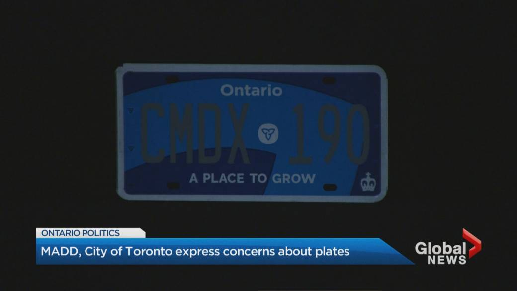Ontario Premier S Office Admits New Licence Plates Have Visibility