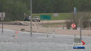 Heavy rain triggers flooding near Lac La Biche
