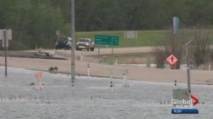 Heavy rain triggers flooding near Lac La Biche (02:33)