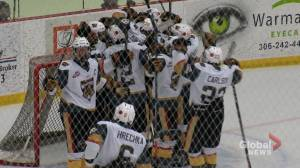 Warman Wildcats comeback to beat P.A Mintos 5-2 for their first franchise win (01:03)