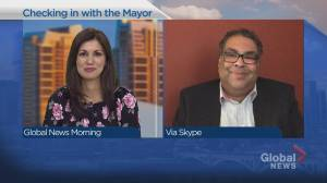 Calgary Mayor Naheed Nenshi answers questions from citizens