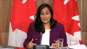 Coronavirus: Minister Anand says government has disclosed nearly $6B worth of COVID-19-related contracts (01:29)
