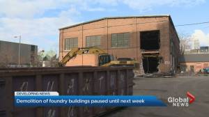 Ontario government pauses demolition at historic foundry site in Toronto (02:40)