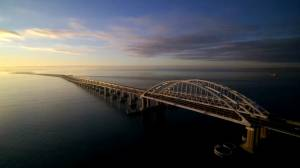 Putin opens railway bridge connecting Crimea to Russia