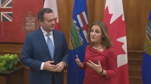 Deputy PM Freeland, Alberta's Kenney meet in Edmonton