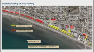 White Rock temporarily eliminating waterfront parking (00:36)